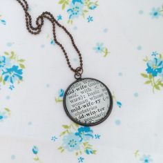 New to roseylittlethings on Etsy: Midwife word necklace one of a kind vintage dictionary word necklace gift for a midwife midwifery pendant keepsake necklace (20.00 USD)