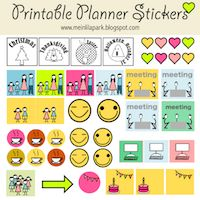 Today I created these free printable calendar planner stickers, markers and pointers for you. Some of them even are in a cute smiling ka...