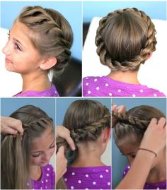 Cute Crown - 12 Super Cute DIY Christmas Hairstyles for All Lengths