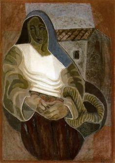 """lilithsplace: """"'La Paysanne' - Juan Gris (1887–1927) """""""