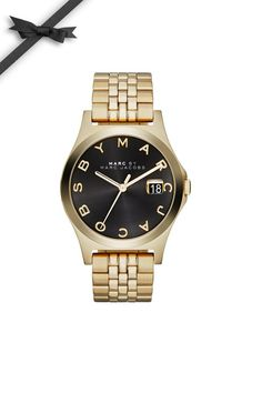 Marc by Marc Jacobs Black & Gold Watch