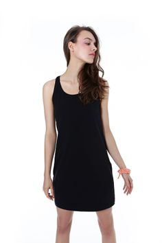 #blackdress #simple #summer 2014 Sports Luxe, Spring Summer, Summer 2014, Basic Tank Top, Clothes For Women, Tank Tops, Model, Group, Collection