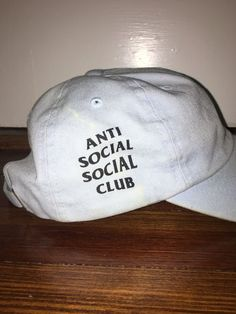 Authentic Anti Social Social Club Baby Blue Cap  0debae14efd9