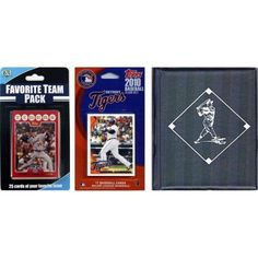 C Collectables MLB Detroit Tigers Licensed 2010 Topps Team Set and Favorite Player Trading Cards Plus Storage Album