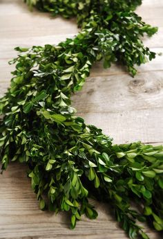 Boxwood Garlands Natural $37, perfect neutral for Christmas to break up the deep greens.