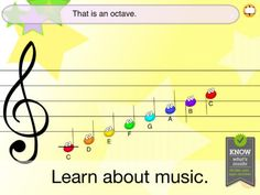 Made by the parents of a budding young musician, Jellybean Tunes introduces children to written music. Big, colourful notes, buttons and backgrounds present music in an engaging and fun way suited to younger hands. Playing songs by touching notes on the staff shows children where the notes are, what sounds they make, and what letters are associated with them. The lessons take learning a step further by gently presenting basic music theory.