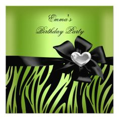 Birthday Party Zebra Silver Lime Green Black Announcements online after you search a lot for where to buyShopping          Birthday Party Zebra Silver Lime Green Black Announcements Review from Associated Store with this Deal...