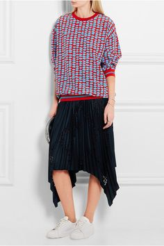 Stella McCartney | Ines printed silk crepe de chine sweater | NET-A-PORTER.COM