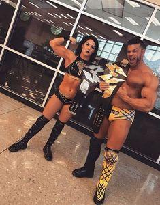 Tessa Blanchard and Brian Cage Tessa Blanchard, Brian Cage, Wrestling Stars, Female Wrestlers, Professional Wrestling, Wwe Divas, Strong Women, Champion, Female Warriors