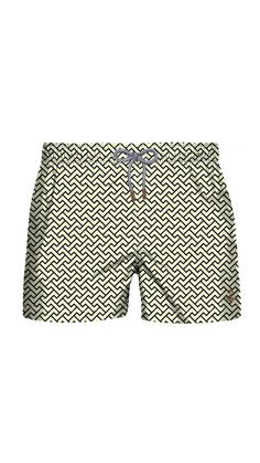 7642dc57f3 These swim trunks are so classic yet modern! Man Shorts, Mens Swim Shorts,