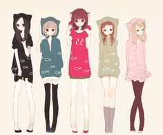 Anime characters have the cutest outfits :3