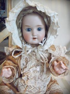 Antique German Schoenau & Hoffmeister Doll by DistressedParisian this is Scarlet just like a doll Old Dolls, Antique Dolls, Vintage Dolls, Childhood Memories, Doll Clothes, Flower Girl Dresses, Doll Outfits, Etsy, Trending Outfits