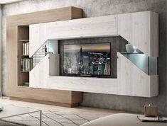 Hall Furniture, Modern Furniture, Living Room Tv Unit Designs, Tv Wall Decor, Tv Wall Design, Flat Ideas, Interior Design, House, Fine Furniture