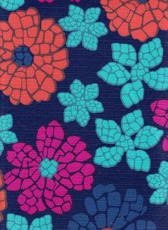 PEVA Vinyl Tablecloth Flannel Backing PVC Free Mosaic Floral Pattern 52 X 70
