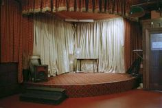 Pretty vacant: the strange beauty of Empty Stages Pub Design, Theatre Design, Stage Design, Speakeasy Decor, Glitter Curtains, School Hall, Empty Spaces, Theater Seating, Take A Seat