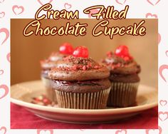 Cream Filled Chocolate www.theteelieblog.com  These are the irresistible chocolate cupcakes based on the videos that you just watched! Get this mix and start filling! #TeelieBlog