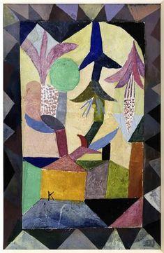 Paul Klee, Flor celeste sobre casa amarilla.