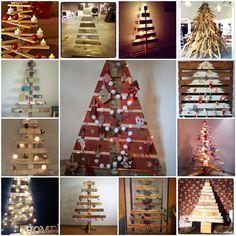 Pallet Christmas Trees #Christmas, #Pallet, #Tree
