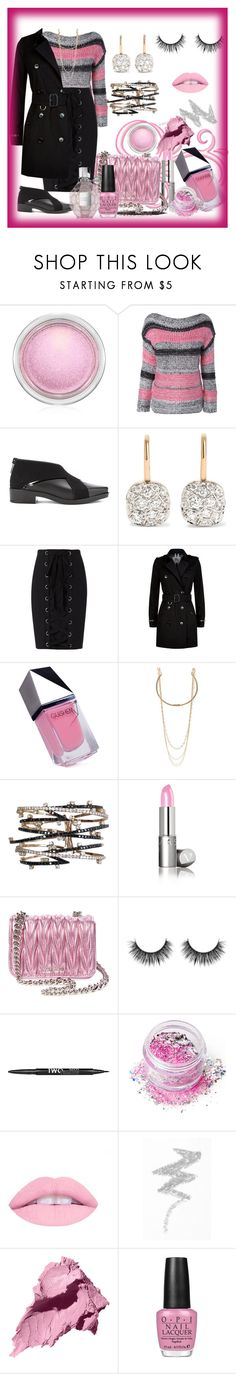 """""""Flowerbomb"""" by bren-johnson ❤ liked on Polyvore featuring MAC Cosmetics, Pomellato, Exclusive for Intermix, Burberry, GUiSHEM, Marc Jacobs, Miu Miu, Charlotte Russe, In Your Dreams and NYX"""