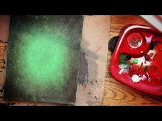 How to Paint a VIBRANT GREEN BACKGROUND - YouTube