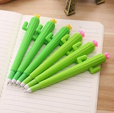 WeiMay Creative Gel Pen - Plastic Lovely Cactus Design Gel Roll Pens School Office Stationary - 12pcs: Amazon.co.uk: Office Products