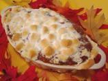 Canned yam /sweet potato casserole with marshmallows