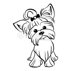 Vector Sketch Funny Yorkshire Terrier Dog Sitting Stock Vector - Illustration of intelligent, fashion: 72802131 Yorkshire Terrier Dog, Biewer Yorkshire, Terrier Breeds, Terrier Dogs, Dog Stencil, Yorkie Dogs, Yorkies, Dog Art, Animal Drawings