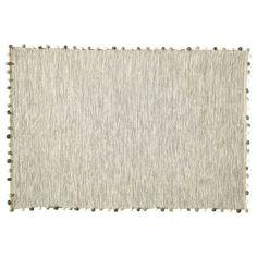 Tapis en coton écru 120 x 180 cm POMPON