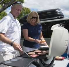 9//3/16 – TAILGATE TRADITION. Tailgaters filled the parking lots around Beaver Stadium prior to the season opener vs. Kent State on Sept. 3. The Gross family has been serving burgers and more prior to Penn State football games for more than 40 years. Image credit: Patrick Mansell.