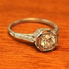 Elise Diamond Vintage Engagement Ring circa 1950