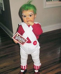 Oompa Loompa toddler costume - we're dying!