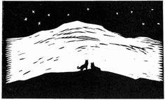 Natt 1 - John Andreas Savio 1 John, Woodblock Print, Alter, Harry Potter, Silhouette, Culture, Illustration, Artist, People