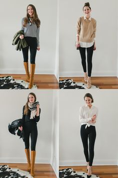 Capsule Wardrobe Remix: Ponte Pants Four Ways So, you've been looking for a pair of pants that you can wear to work and on the weekends? To a board meeting or on an airplane? With heels or with sn. Casual Work Outfits, Winter Outfits For Work, Mode Outfits, Work Attire, Trendy Outfits, Outfit Work, Fashion Outfits, Business Professional Outfits, Business Casual Outfits