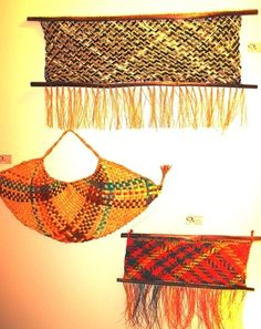 Flax Weaving, Bamboo Weaving, Weaving Art, Basket Weaving, Hand Weaving, Woven Baskets, Maori Designs, Maori Art, Arts And Crafts