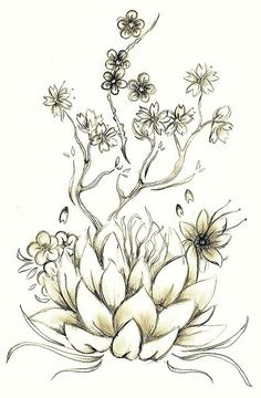 Lotus tattoo idea.  This gave me massive inspiration for what I want - I've been stressing over it for weeks, and now I know EXACTLY how I want my tat to look and it will include EVERYTHING I've been considering!  So excited!