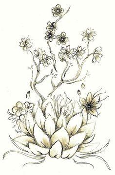 Lotus Tattoo Drawing