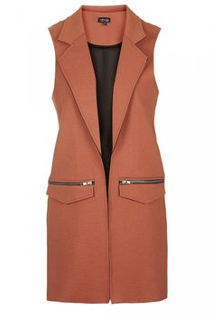 Topshop rust sleeveless jacket worn once size 10 in Clothes, Shoes & Accessories, Women's Clothing, Coats & Jackets Brown Jacket, Vest Jacket, Brown Blazer, Duster Vest, Leather Jacket, Hijab Fashion, Fashion Outfits, Men's Fashion, Sleeveless Blazer