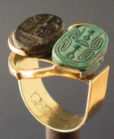 double scarab ring Wear Art Now - Unique Jewelry For Selective Clients Ancient Egyptian Artifacts, Ancient Egyptian Jewelry, Ancient History, Ancient Aliens, Crystal Jewelry, Sterling Silver Jewelry, Antique Jewelry, Art Deco Jewelry, Fine Jewelry