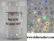 Silver Starbust is a great foil with an amazing pattern, like a July burst in every nail! Transfer Foil, Nail Art Hacks, July 4th, Nails, Amazing, Pattern, Silver, Design, Finger Nails