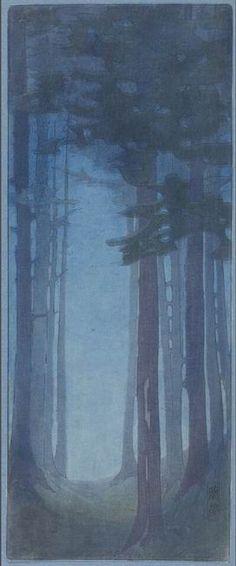 Woodblock prints (Estampes) :: Pines Bertha Lum,1912 Minneapolis Institute of Arts