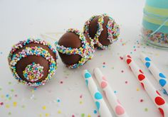 Nutella Cake Pops step by step Oreos, Nutella Cake, Baby Boy Shower, Tea Party, Frozen, Candy, Desserts, Food, Chocolates