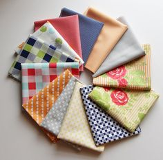 Moda Happy Go Lucky Fat Quarter Bundle - 12 FQs (3 yards total) on Etsy, $28.50
