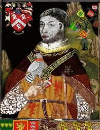 Owen Tudor, Henry VIII's great grandfather and from whom the Tudor line began. Owen was the second husband of Catherine of Valois, Henry VI's mother. Being a servant in her household, their romance and marriage was quite a scandal. They had four children, including Edmund and Jasper Tudor.