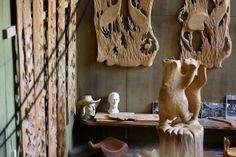 Eva Ryynäsen ateljee #lieksa #finland | Eva Ryynänen (15 June 1915 Vieremä  - 18 October 2001 Lieksa), Finnish sculptor. | http://fi.wikipedia.org/wiki/Eva_Ryyn%C3%A4nen