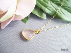 Rose Chalcedony Necklace by NgocJewelry