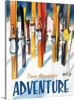 Personalize your own vintage style ski sign. Choose from dozens of classic styles featuring authentic vintage ski art. Select your style and size, then add your own words for a one of a kind custom vintage ski sign. Vintage Ski Posters, Vintage Advertising Posters, Vintage Advertisements, Wood Wall Decor, Wood Wall Art, Canvas Wall Art, Canvas Prints, Wall Décor, Big Canvas