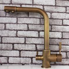 Vintage Style Antique Brass Kitchen Faucet Bronze|JollyHome.com