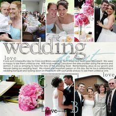 wedding - 8 photos, clean #scrapbook layout