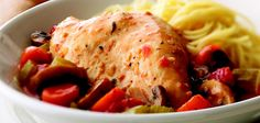 Chicken Alla Cacciatora. Cover and cook on LOW heat setting for 6 to 8 hours.