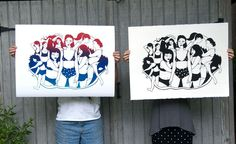 Summer Babes: Screenprint by Molly and Nancy McIntyre